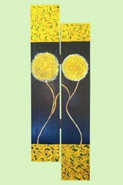 Picturi cu flori un el si-o ea