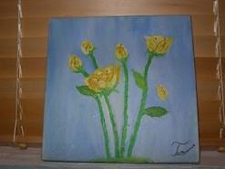 Picturi cu flori Yellow  roses