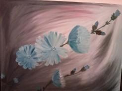 Picturi cu flori Cicoare de vara