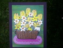 Picturi cu flori cos mare cu flori