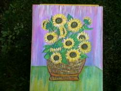 Picturi cu flori flori cu raze