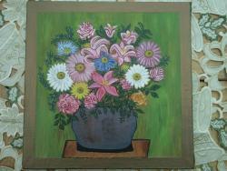 Picturi cu flori flori in vaza mare