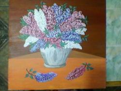 Picturi cu flori liliac din Bucovina