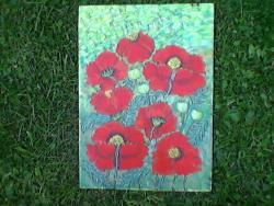 Picturi cu flori maci mari