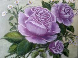 Picturi cu flori Buchetel mov