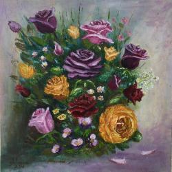 Picturi cu flori Joc de culori
