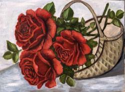 Picturi cu flori Rose in cos
