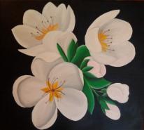 Picturi cu flori Flori de mar 2