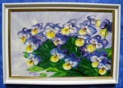 Picturi cu flori 3 frati patati