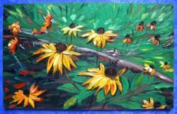 Picturi cu flori Flori de toamna 1