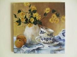 Picturi cu flori Kerria in vas