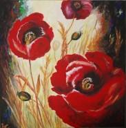 Picturi cu flori Happy poppies