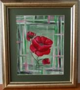 Picturi cu flori Mac inflorit.