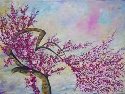 Picturi cu flori The tree of joy