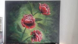 Picturi cu flori trandafiri deosebiti
