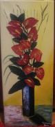 Picturi cu flori Vaza cu anthurium