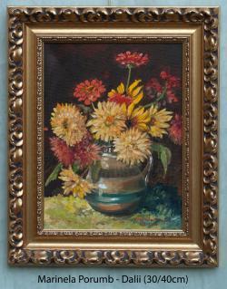 Picturi cu flori Dalii, 2017