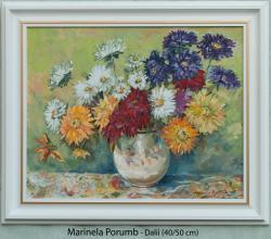Picturi cu flori Dalii 2, 2017