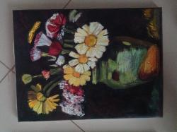 Picturi cu flori margarete3