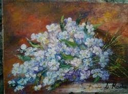 Picturi cu flori alb buchet