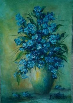 Picturi cu flori albastre flori
