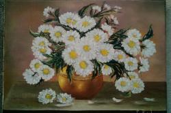 Picturi cu flori Albe tufanele