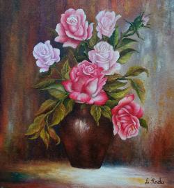 Picturi cu flori amestec de trandafiri