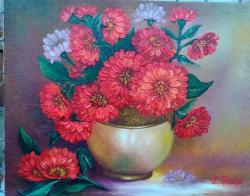 Picturi cu flori carciumarese in vas
