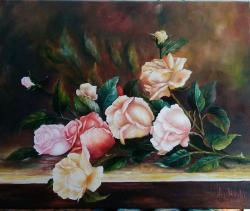 Picturi cu flori Doar trandafiri