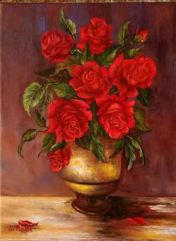 Picturi cu flori Firavi trandafiri