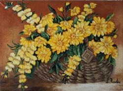 Picturi cu flori Flori cu Gurita-Leului