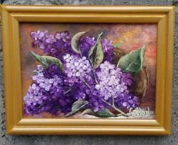 Picturi cu flori Liliac cu rama-oferte