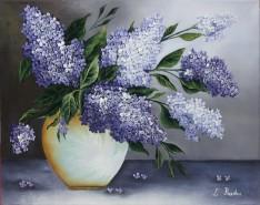 Picturi cu flori Liliac in vas