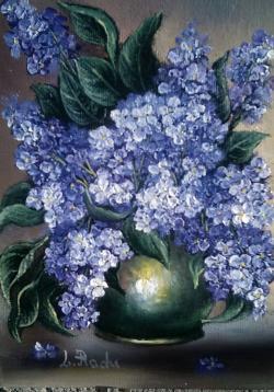 Picturi cu flori liliac movuliu
