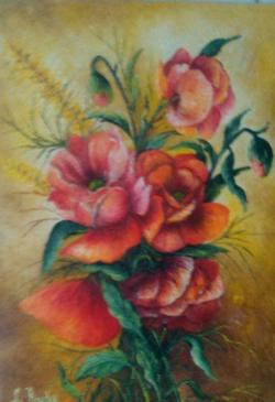 Picturi cu flori maci fara vas