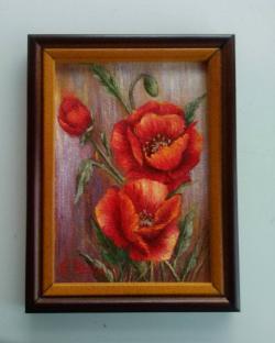 Picturi cu flori Maci rosii 2