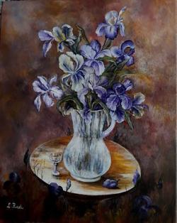 Picturi cu flori Multi stanjenei in vas