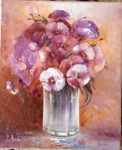 Picturi cu flori Niste panselute