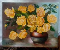 Picturi cu flori Niste trandafiri