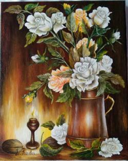 Picturi cu flori Pastel 1