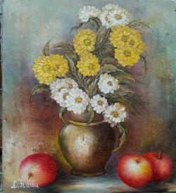 Picturi cu flori pastel de toamna
