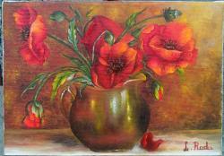Picturi cu flori PRIMAVARA MACILOR