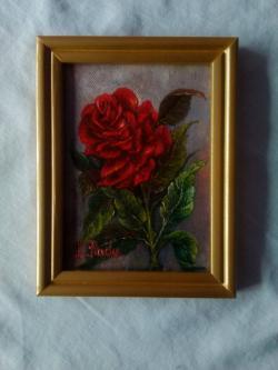 Picturi cu flori Red Rose 1-Tb.cu rama