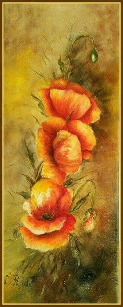 Picturi cu flori SINGURII MACI