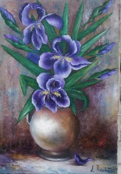 Picturi cu flori stanjenei in vas