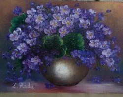 Picturi cu flori toporasi in vas