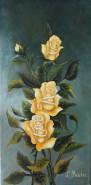Picturi cu flori Trandafir galben