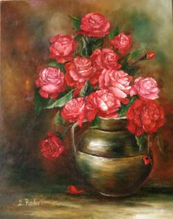 Picturi cu flori Trandafiri in cutit