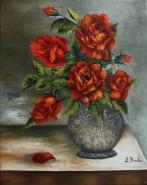 Picturi cu flori Trandafirii rosii