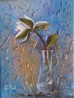 Picturi cu flori Un fir de magnolie